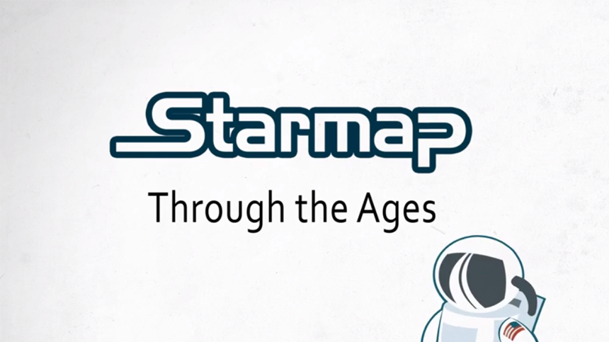 "Starmap ""THROUGH THE AGES"""